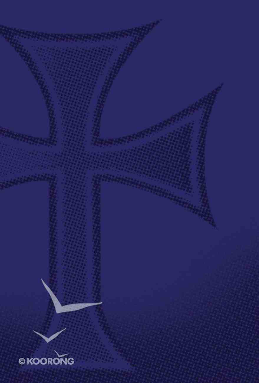 NIV Backpack Bible Embossed Cross Deep Blue Imitation Leather