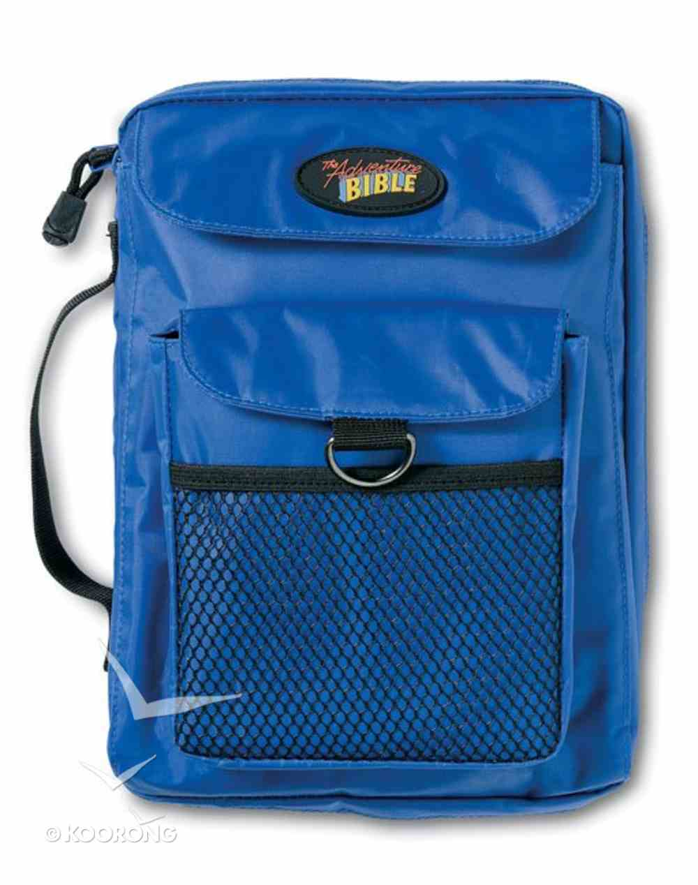 Bible Cover Adventure Bible Blue Nylon With Mesh Pocket Bible Cover