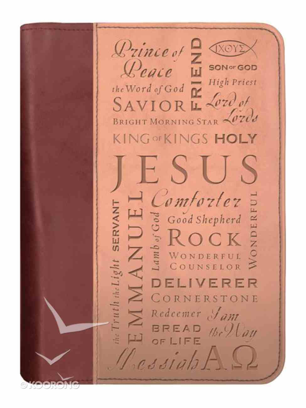Bible Cover Duo-Tone Names of Jesus Large Bible Cover