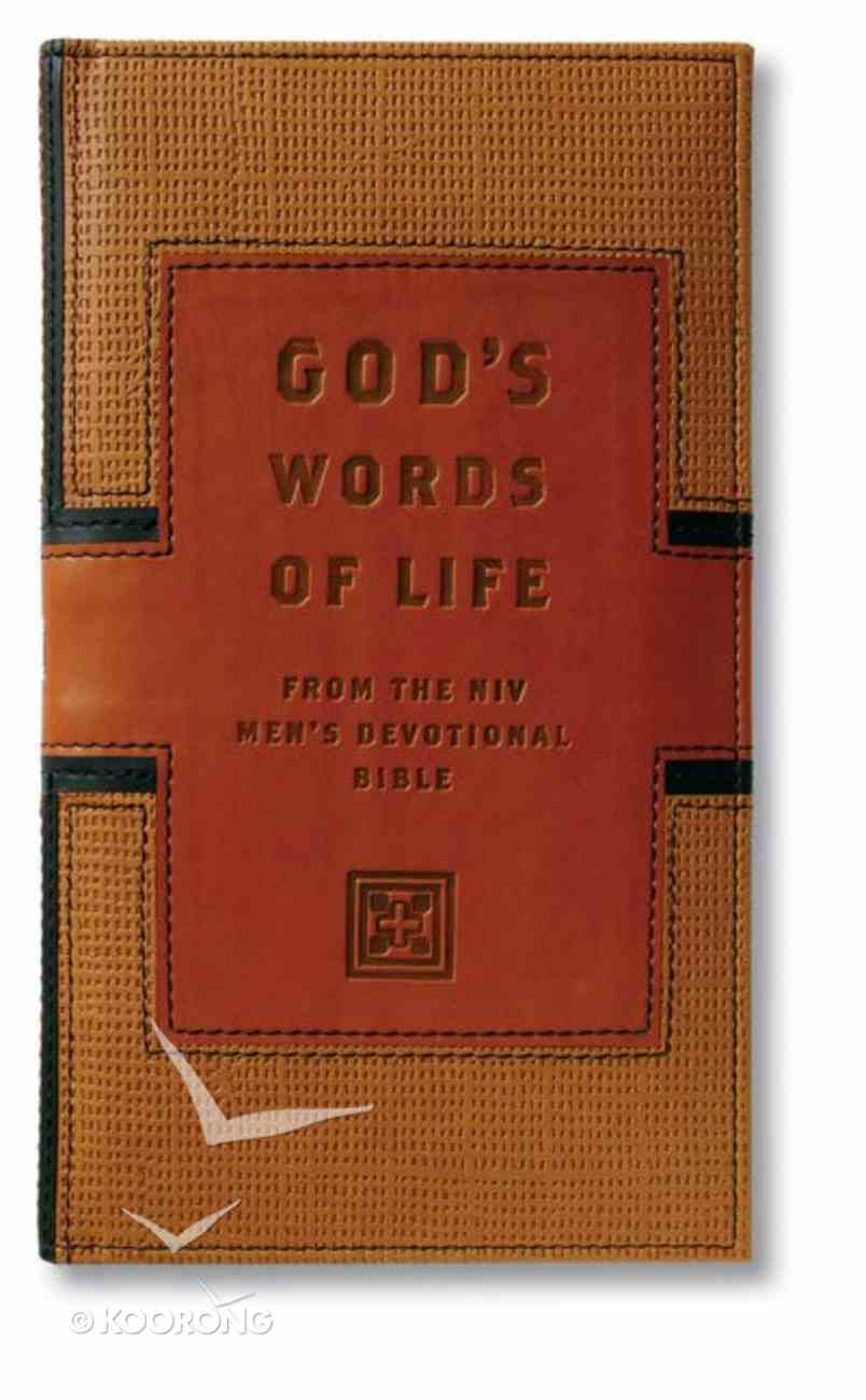 God's Words of Life From the NIV Men's Devotional Bible Genuine Leather