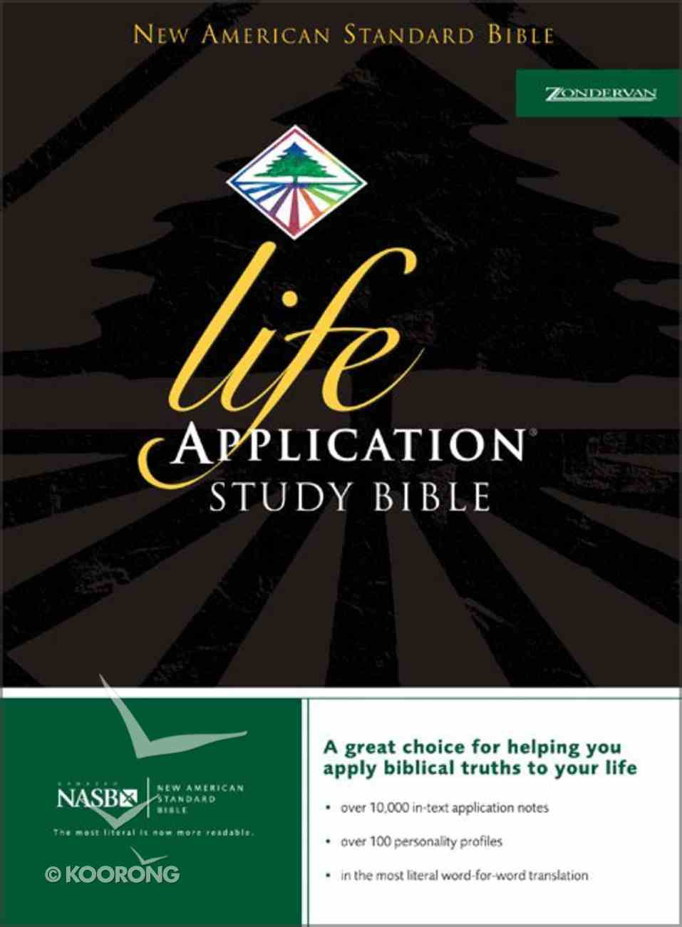 NASB Life Application Study Burgundy (Black Letter Edition) Bonded Leather