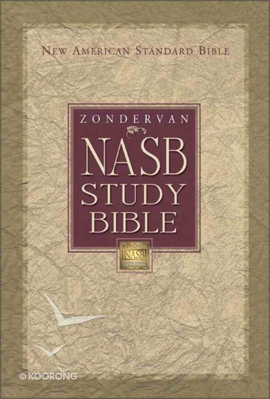 Zondervan NASB Updated Study Bible Black Indexed (Red Letter Edition) Bonded Leather