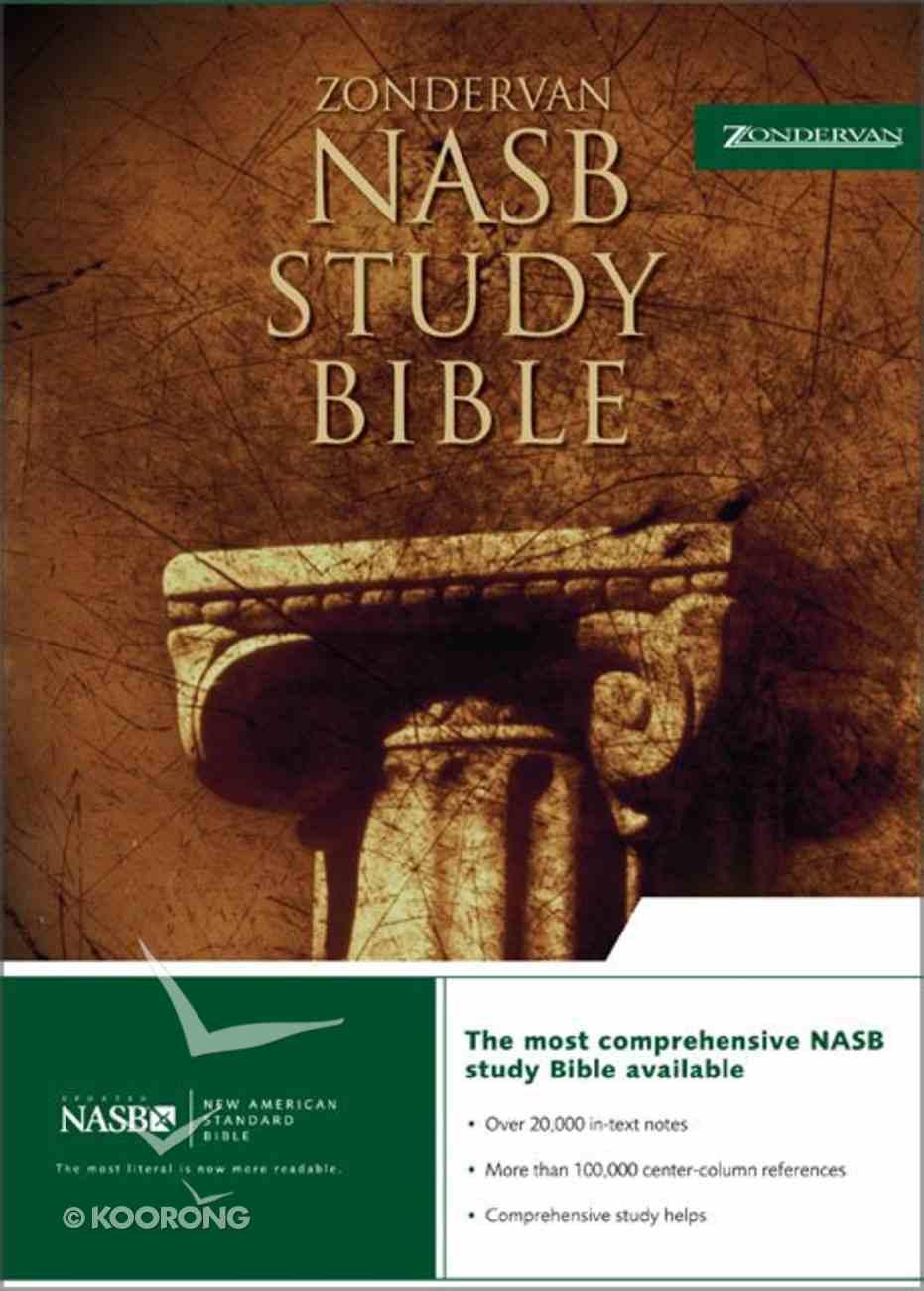 Zondervan NASB Updated Study Bible Burgundy Genuine Leather