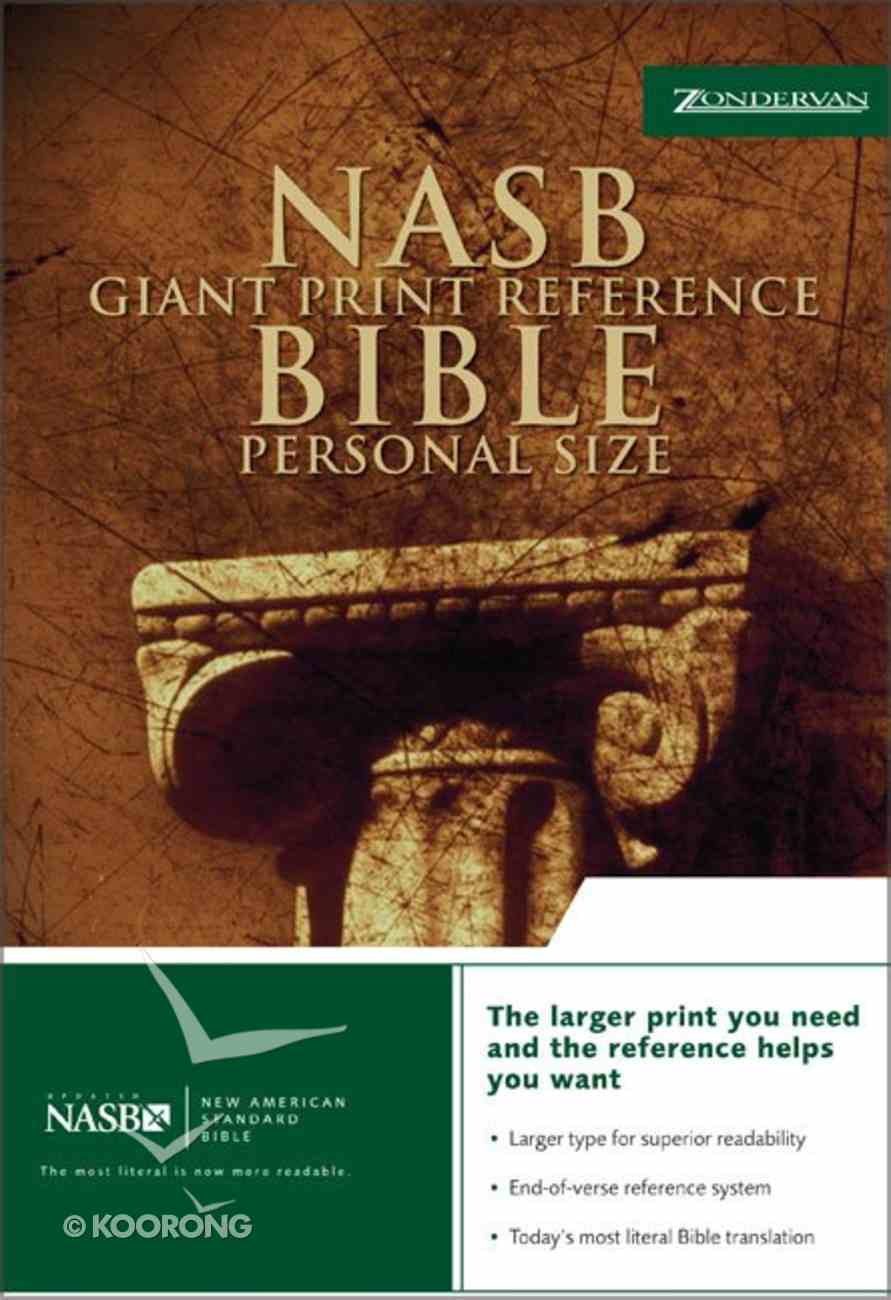 NASB Updated Giant Print Reference Burgundy Personal Size Bonded Leather