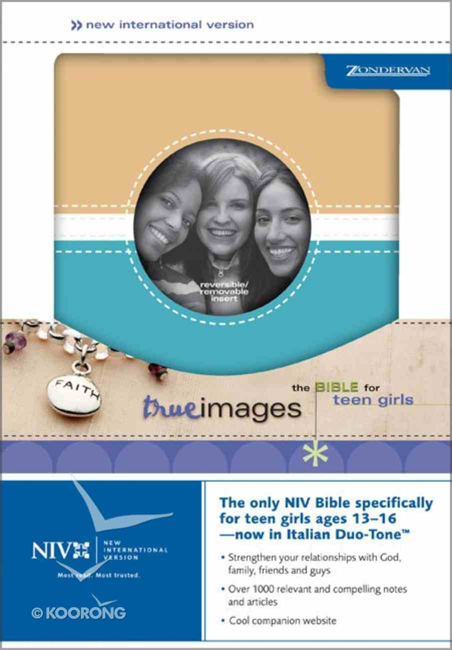 NIV True Images Teen Bible For Girls Blue/Tan/White Imitation Leather