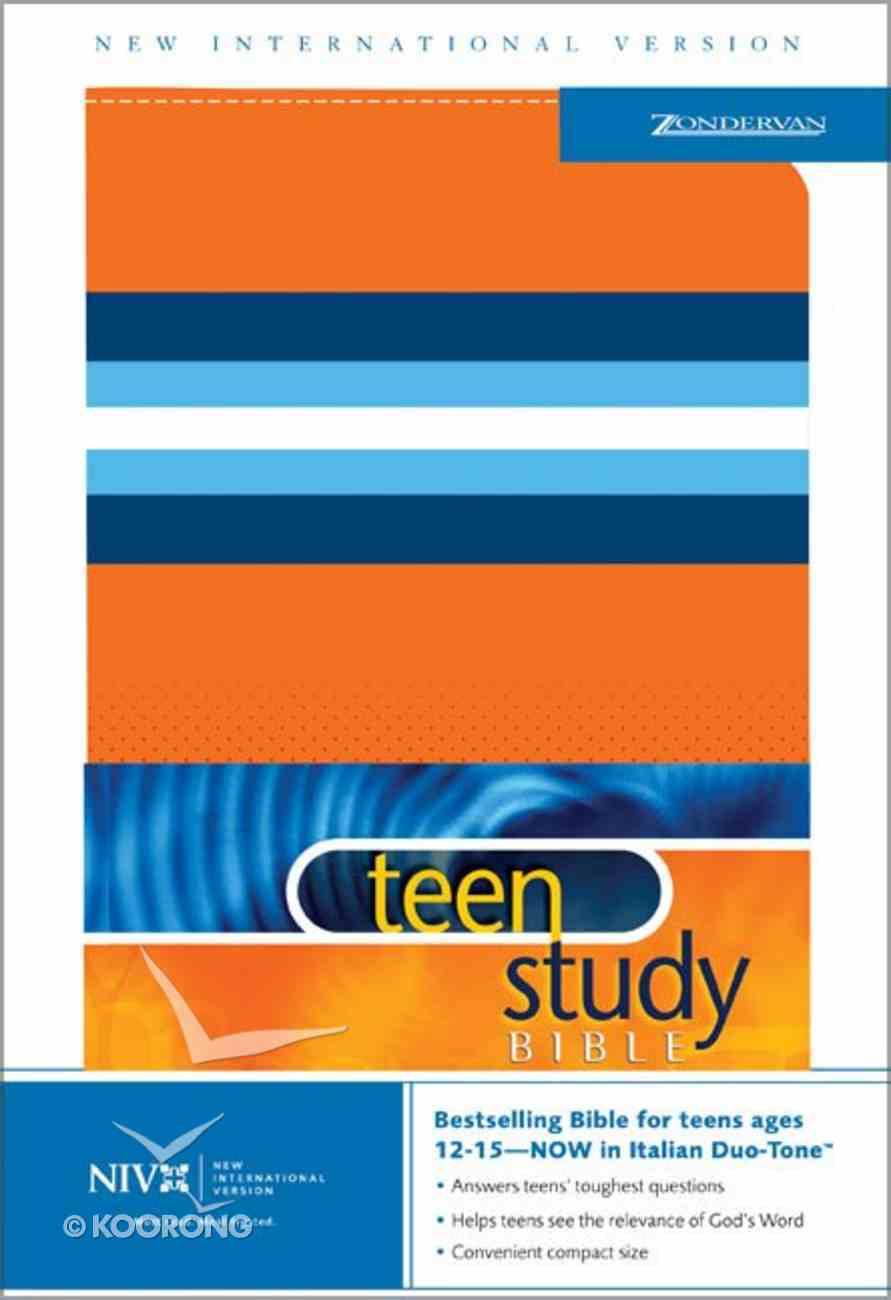 NIV Teen Study Bible Italian Orange Duo-Tone (2004) Imitation Leather