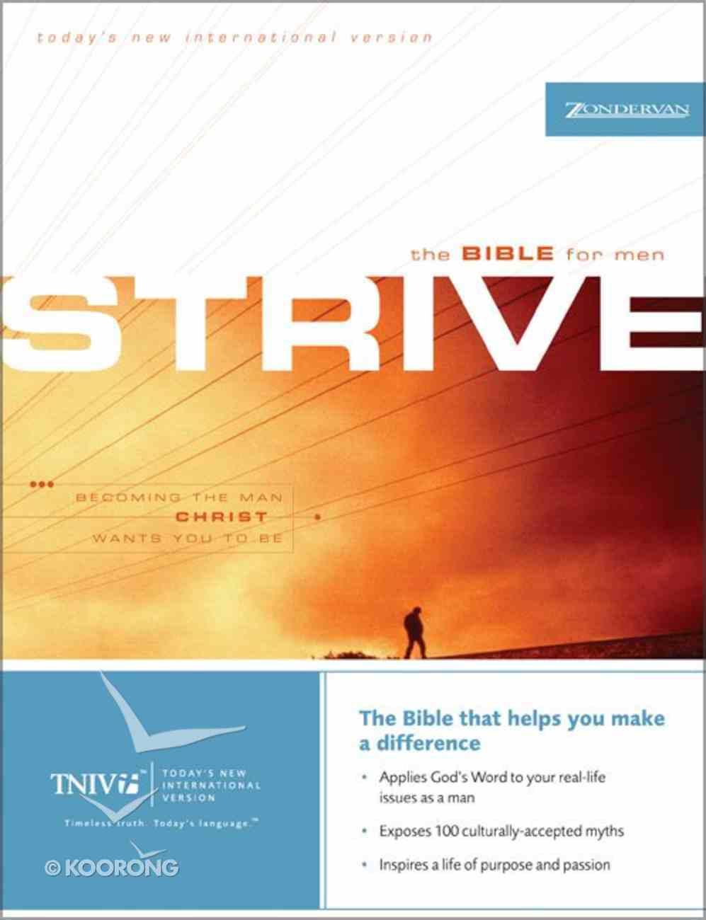 TNIV Strive Bible For Men Hardback