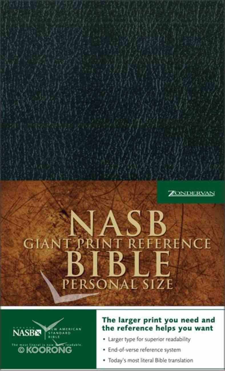 NASB Updated Giant Print Reference Black Indexed Personal Size Imitation Leather