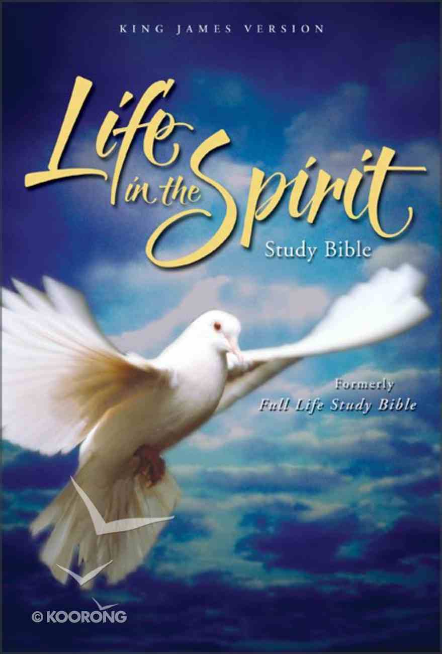 KJV Life in the Spirit Study Bible Burgundy Indexed Bonded Leather