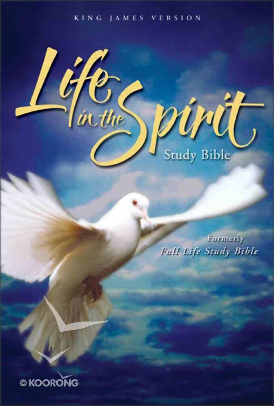 KJV Life in the Spirit Study Bible Black Top Grain Indexed Genuine Leather