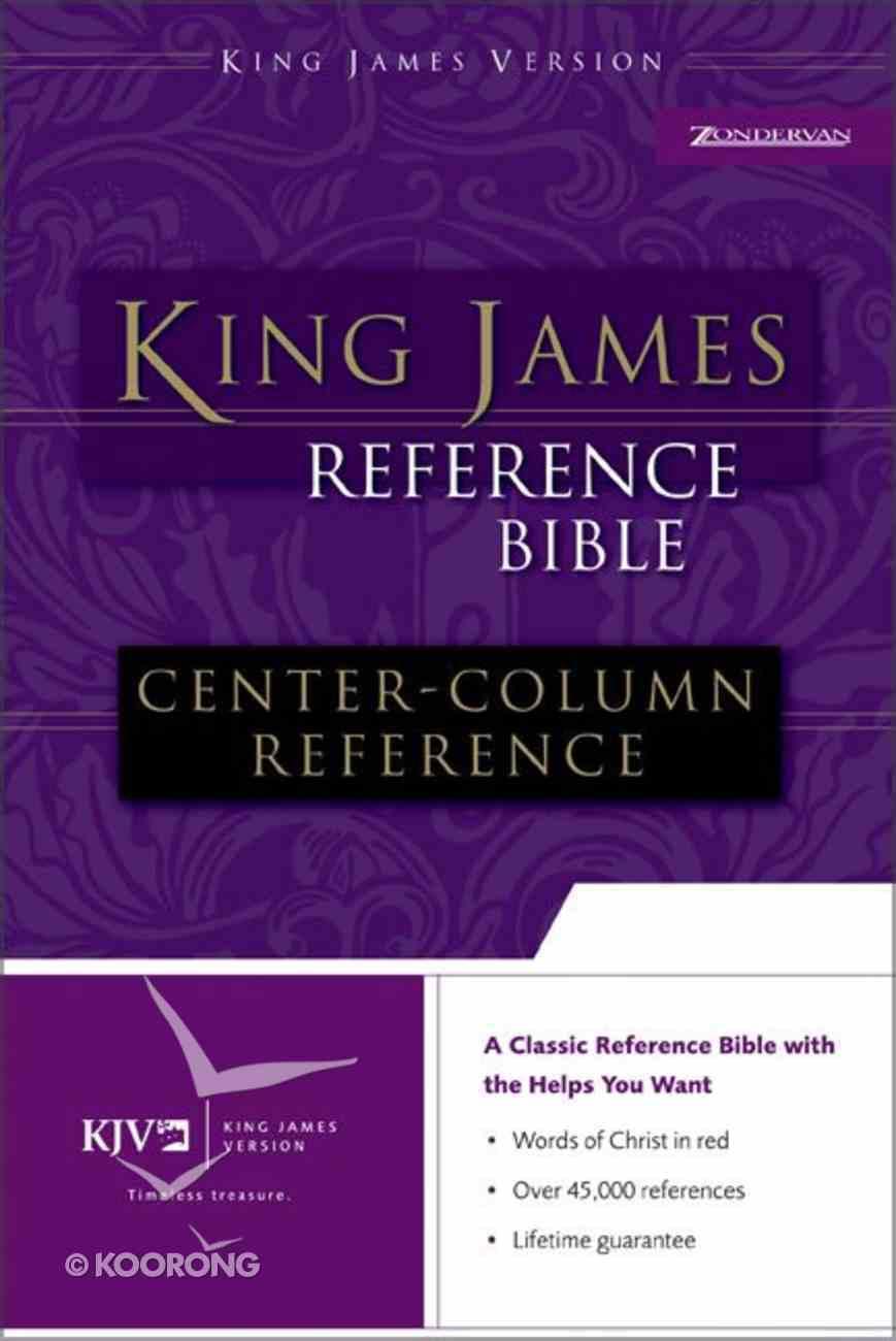 KJV Reference Bible Black Bonded Leather