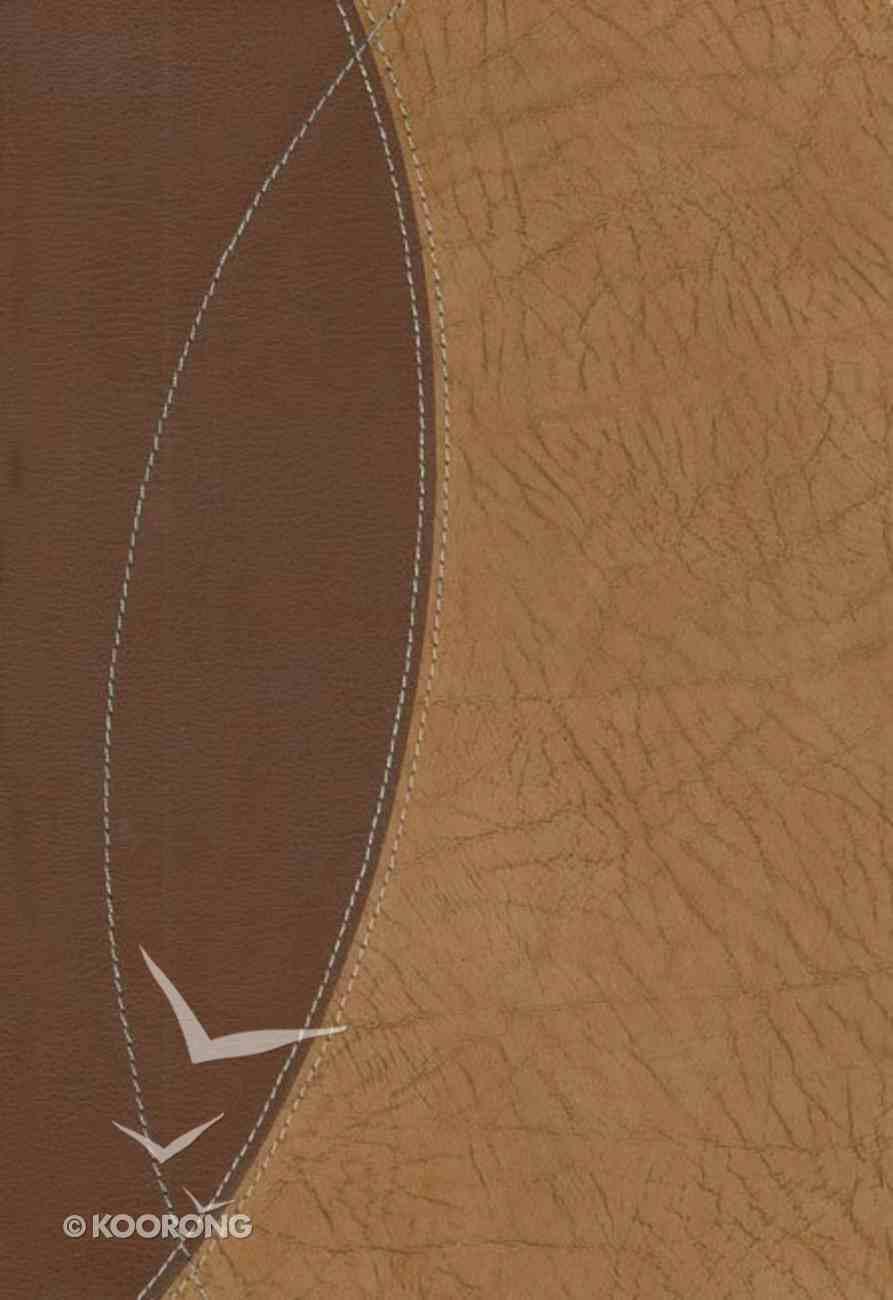 TNIV Study Sienna/Cashew European Leather Genuine Leather