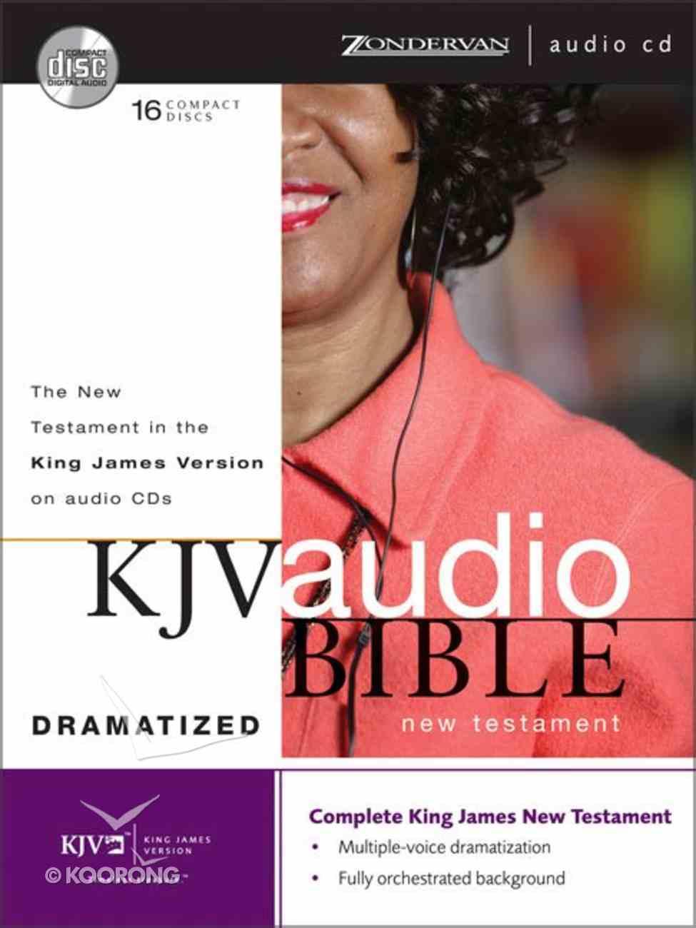 KJV Audio New Testament Dramatized (Unabridged 18 Hrs) CD