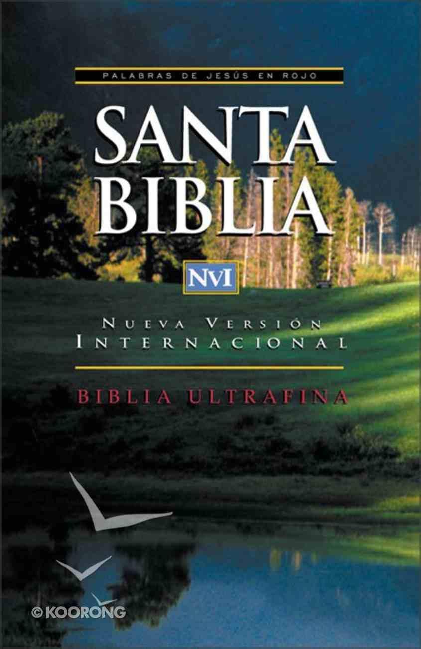 Nvi Santa Biblia Ultrafina Spanish Nvi Ultrathin Black Imitation Leather