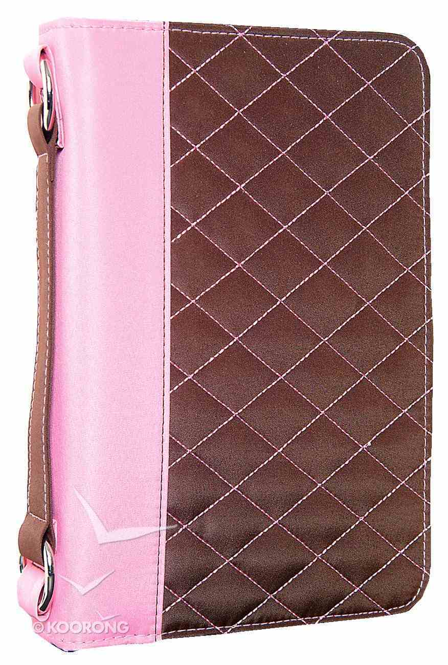 Bible Cover Aspen Micro Brown/Pink Large Bible Cover