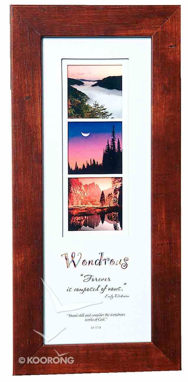 Stories Framed Plaque: Wondrous Job 37:14 Plaque