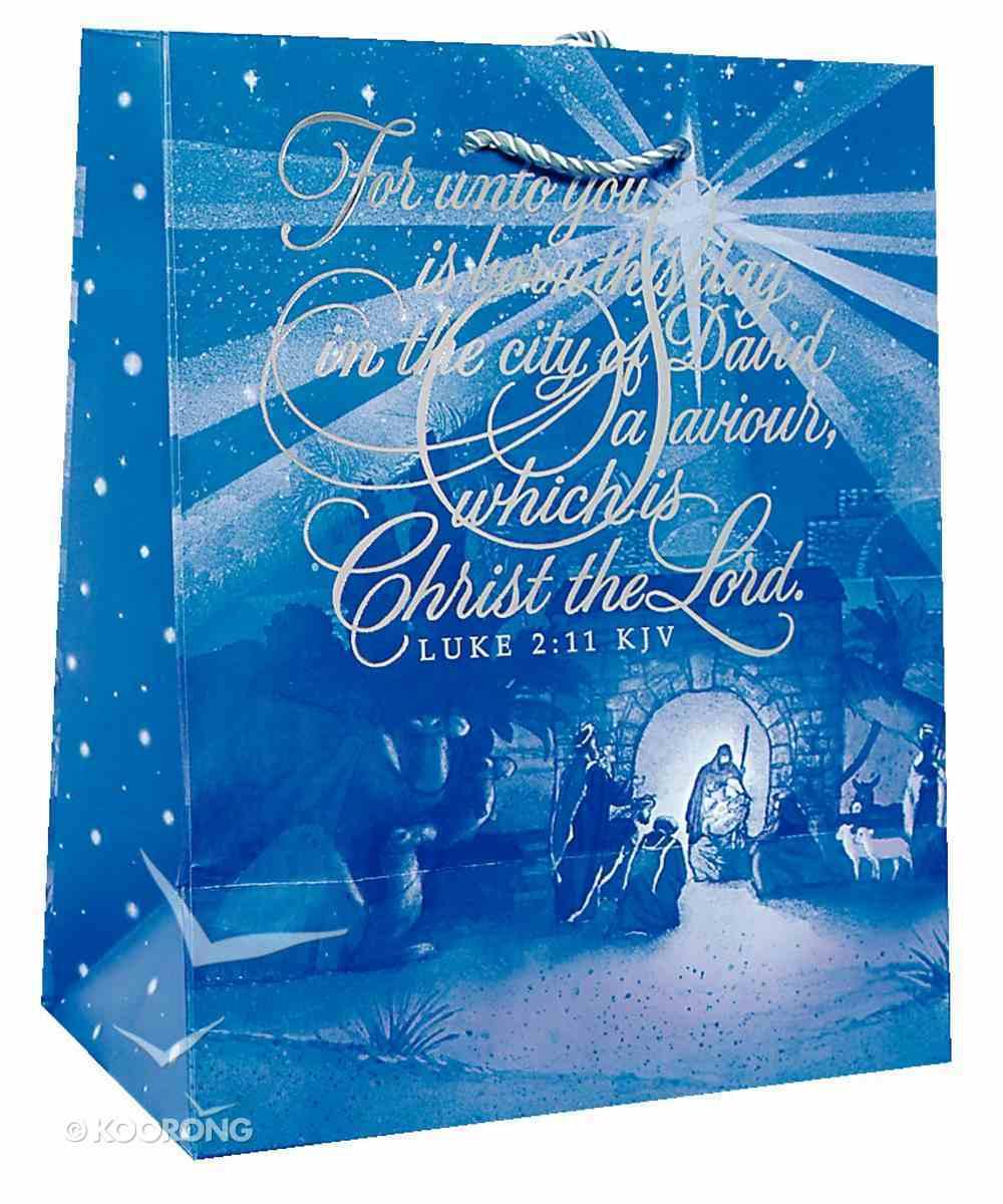 Christmas Gift Bag: Handlettering Nativity (Medium) Stationery