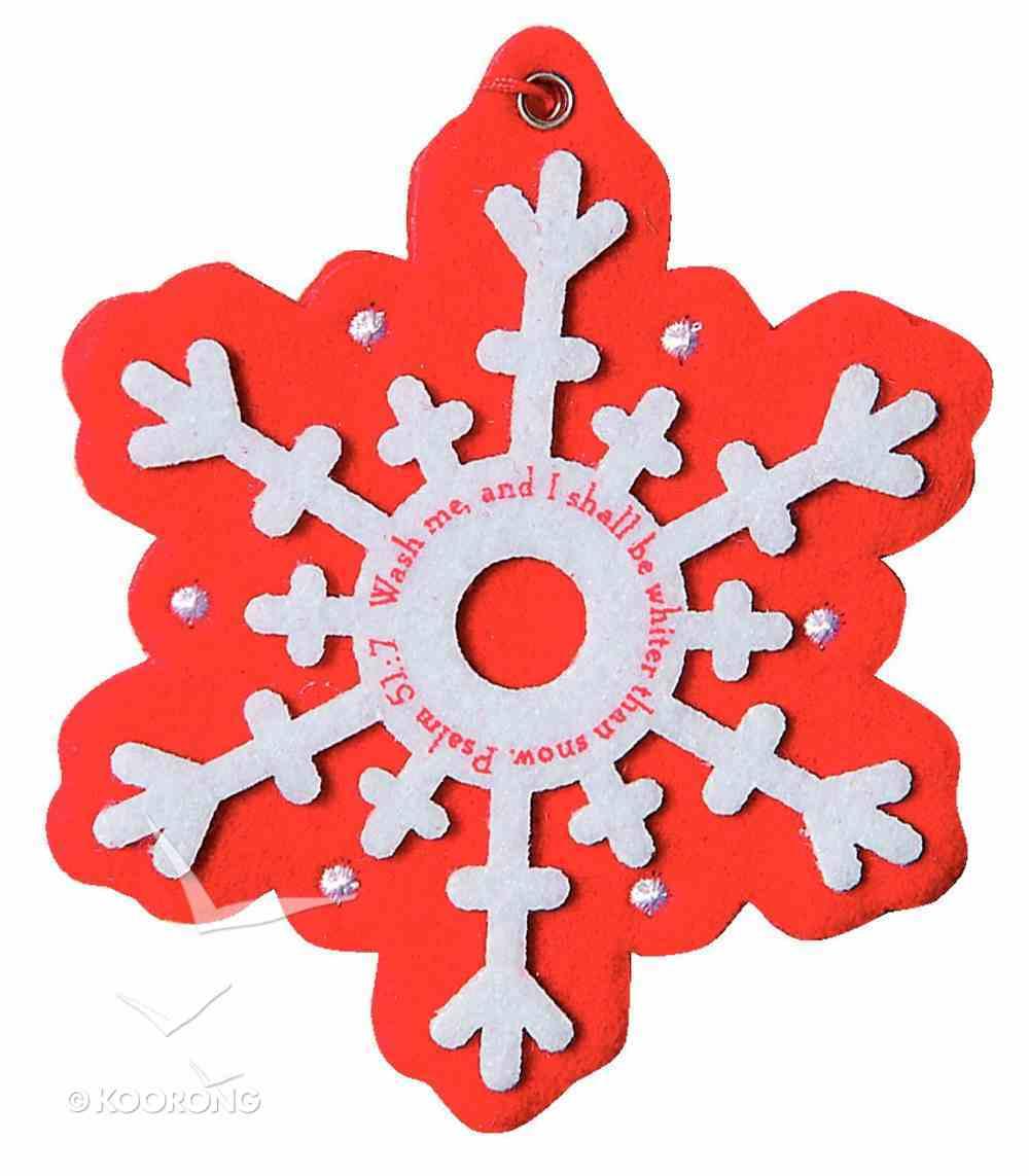 Christmas Ornament: Snowflake Psalm 51:7 Homeware