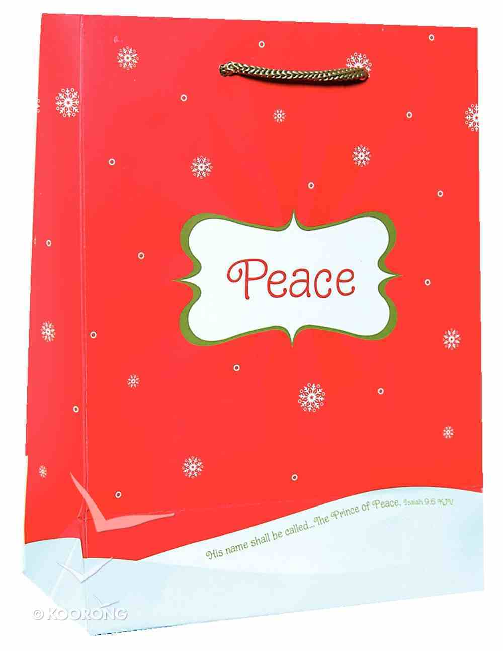 Christmas Gift Bag: Peace (Medium) Stationery