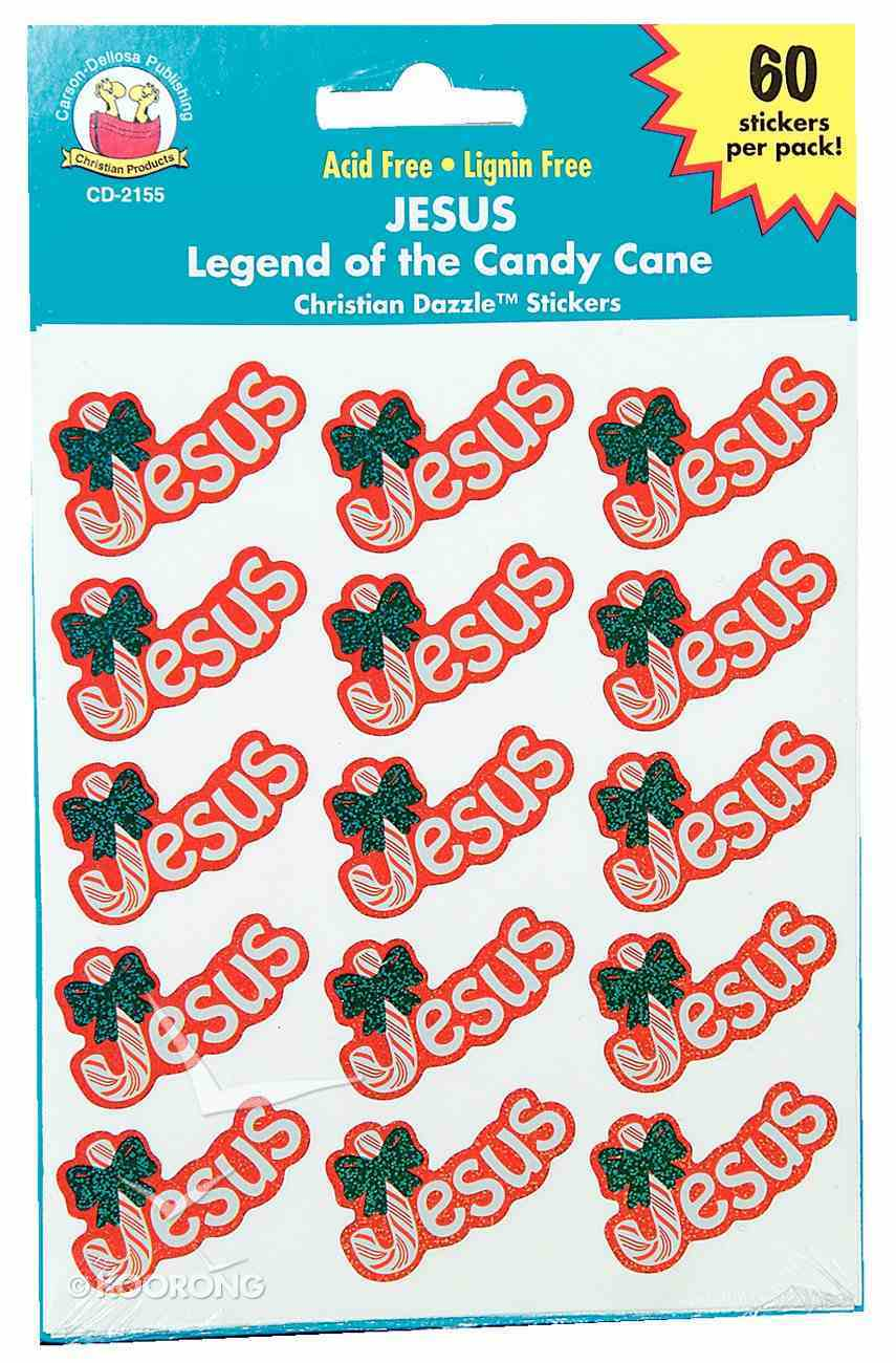 Sticker Pack: Jesus Dazzle (Legend Of The Candy Cane) Novelty