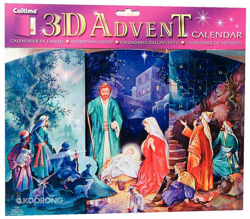 3d Fold Out Advent Calendar: Manger Scene With Pictures Calendar