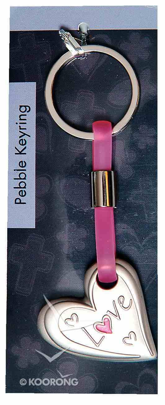 Pebble Keyring: Love Heart Jewellery