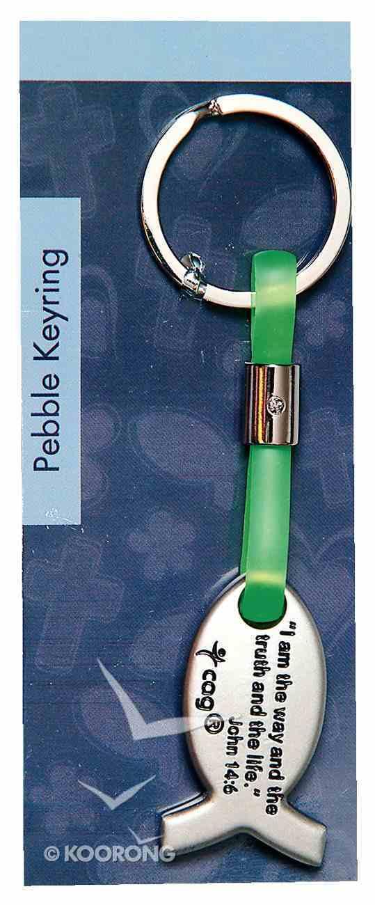 Pebble Keyring: Jesus Fish Jewellery