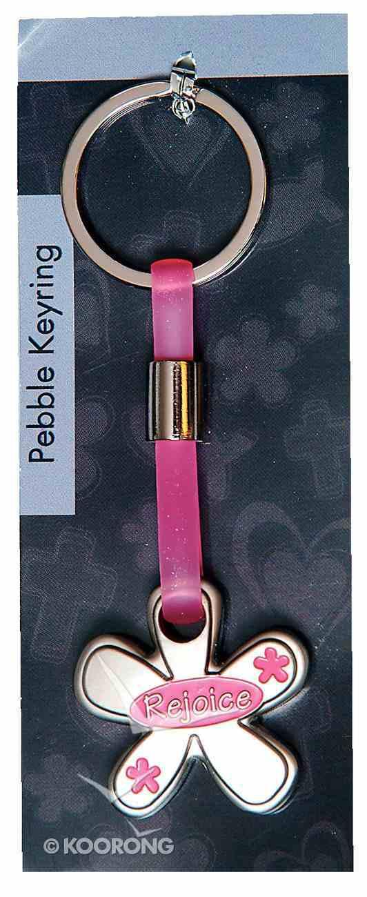 Pebble Keyring: Rejoice Flower Jewellery