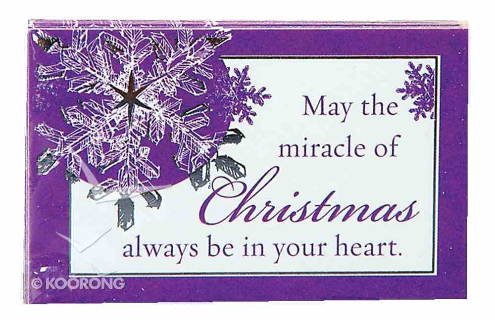 May the Miracle of Christmas (7.6 X 5.1cm) (Pass It On Cards Series) Cards