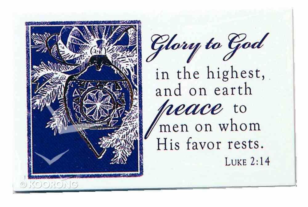 Glory to God (7.6 X 5.1cm) (Pass It On Cards Series) Cards