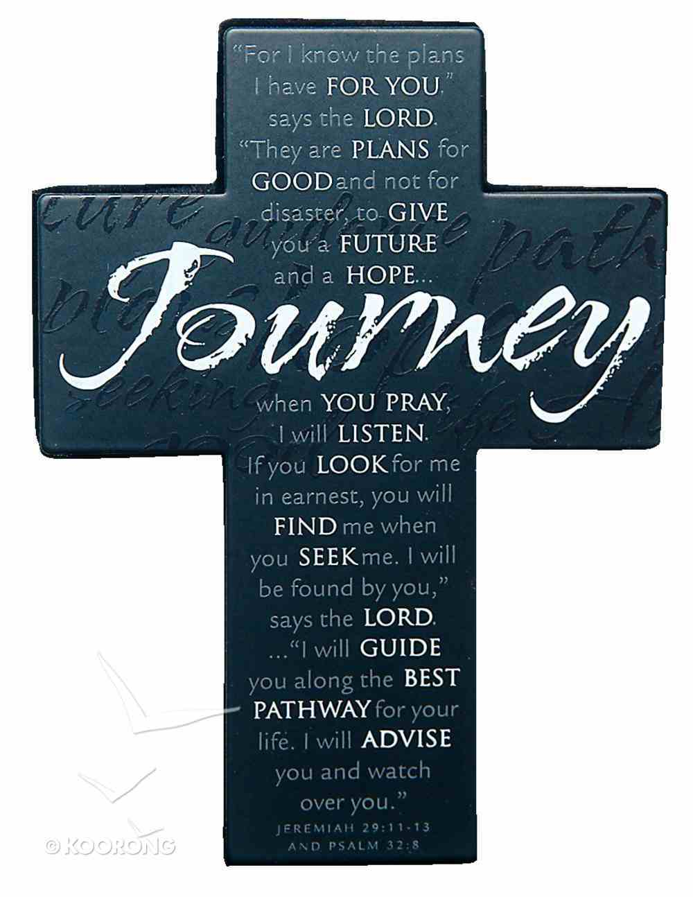 Mini Metal Message Cross: Journey Various Scriptures, Black Homeware