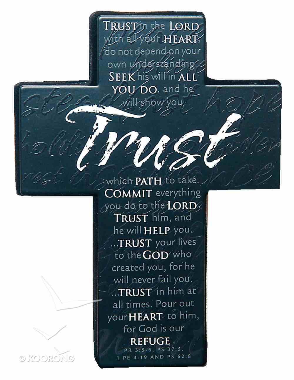 Mini Metal Message Cross: Trust Various Scriptures, Black Homeware