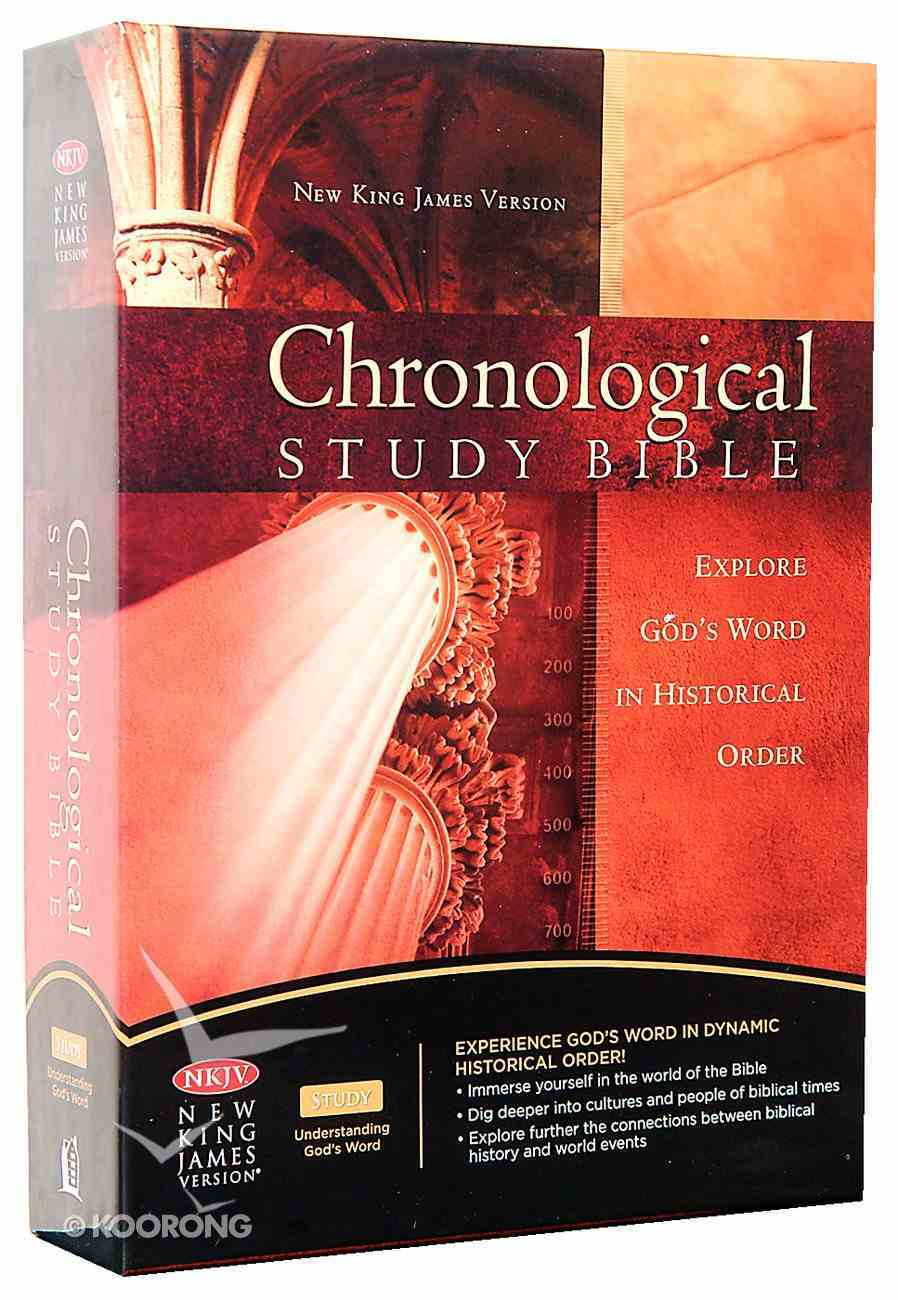 NKJV Chronological Study Bible Black Cherry Bonded Leather