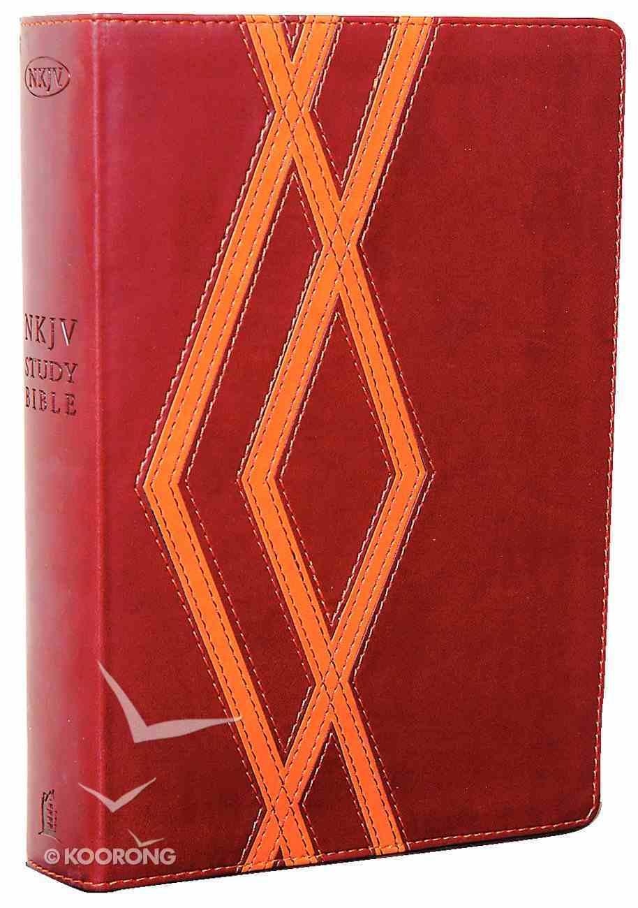 NKJV Study Bible Burgundy/Tan (2nd Edition) Premium Imitation Leather