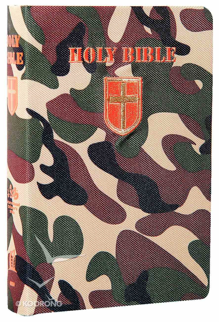 ICB Compact Kids Green Camouflage (Black Letter Edition) Fabric