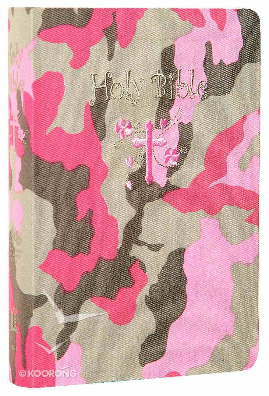 ICB Compact Kids Pink Camouflage (Black Letter Edition) Fabric