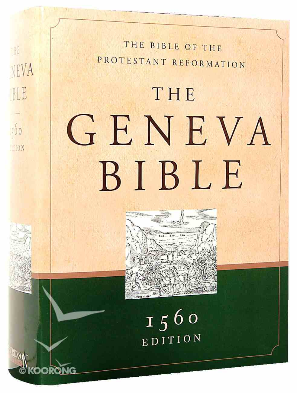 Geneva Bible 1560 Edition Green/Sand Hardback