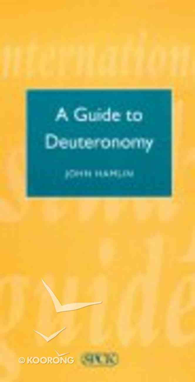 A Guide to Deuteronomy (International Study Guide Series) Paperback