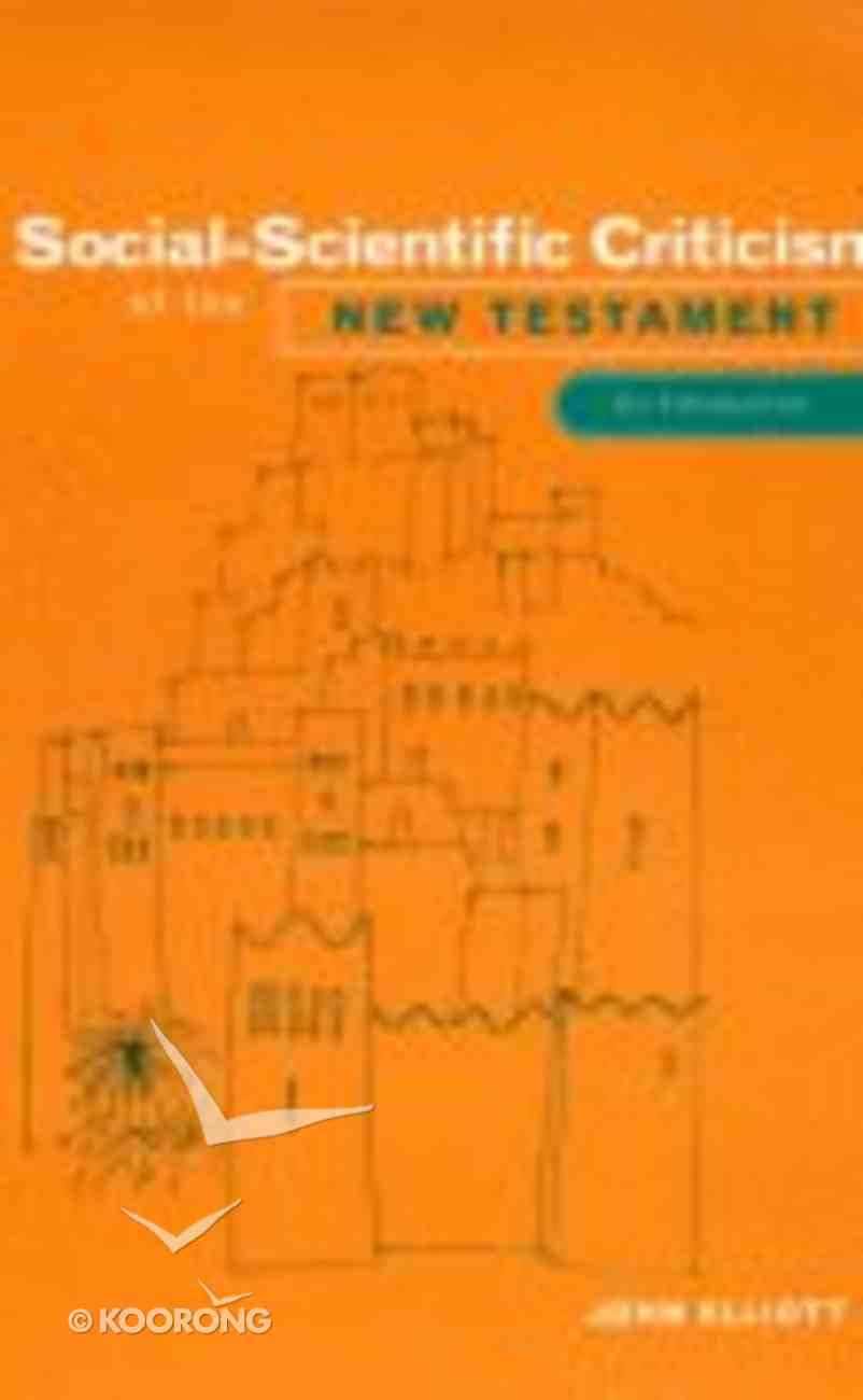 Social-Scientific Criticism of the New Testament Paperback