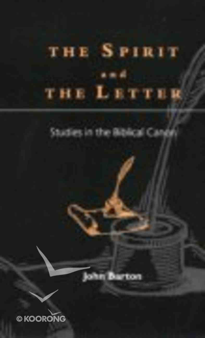 The Spirit and the Letter Paperback