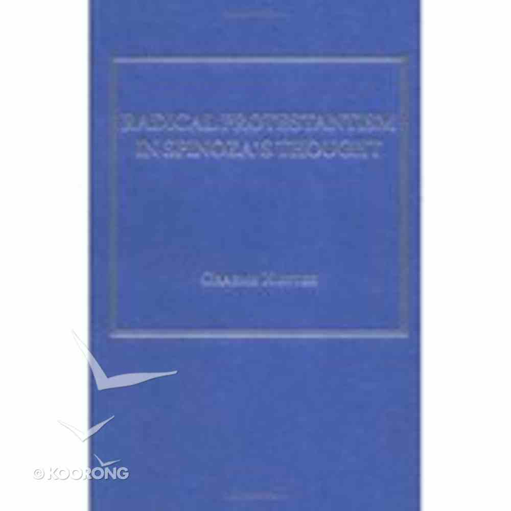 Radical Protestantism in Spinoza's Thought Hardback