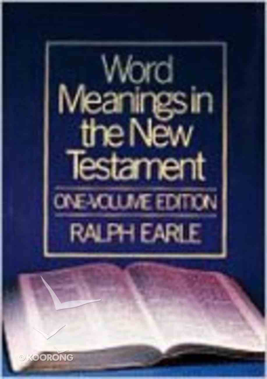 Word Meanings in the New Testament Hardback