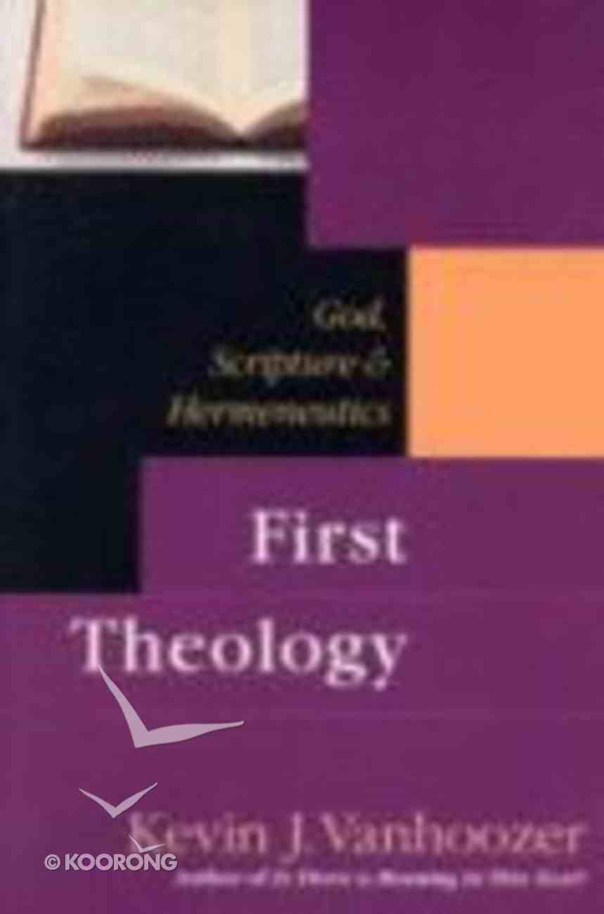 First Theology Paperback