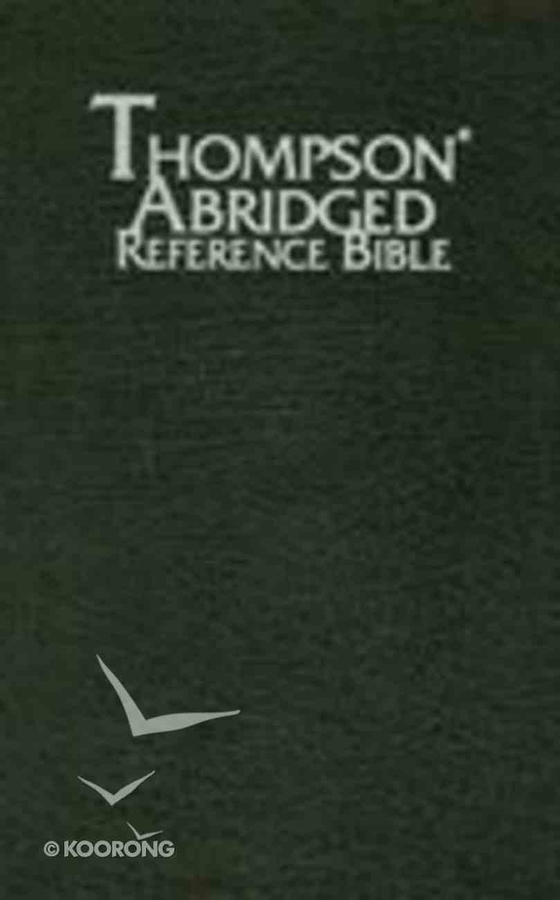 KJV Thompson Abridged Reference Black Bonded Leather