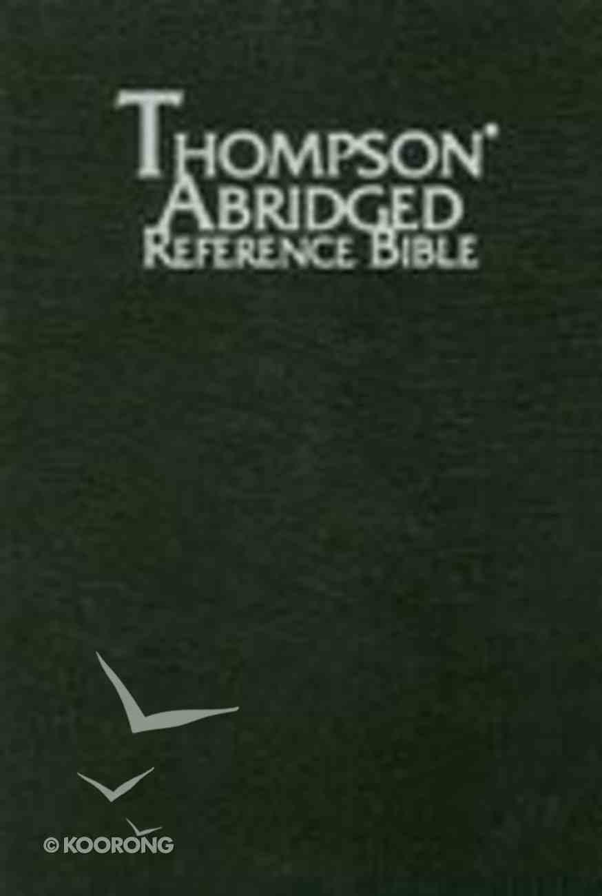 KJV Thompson Abridged Reference Black Index Bonded Leather