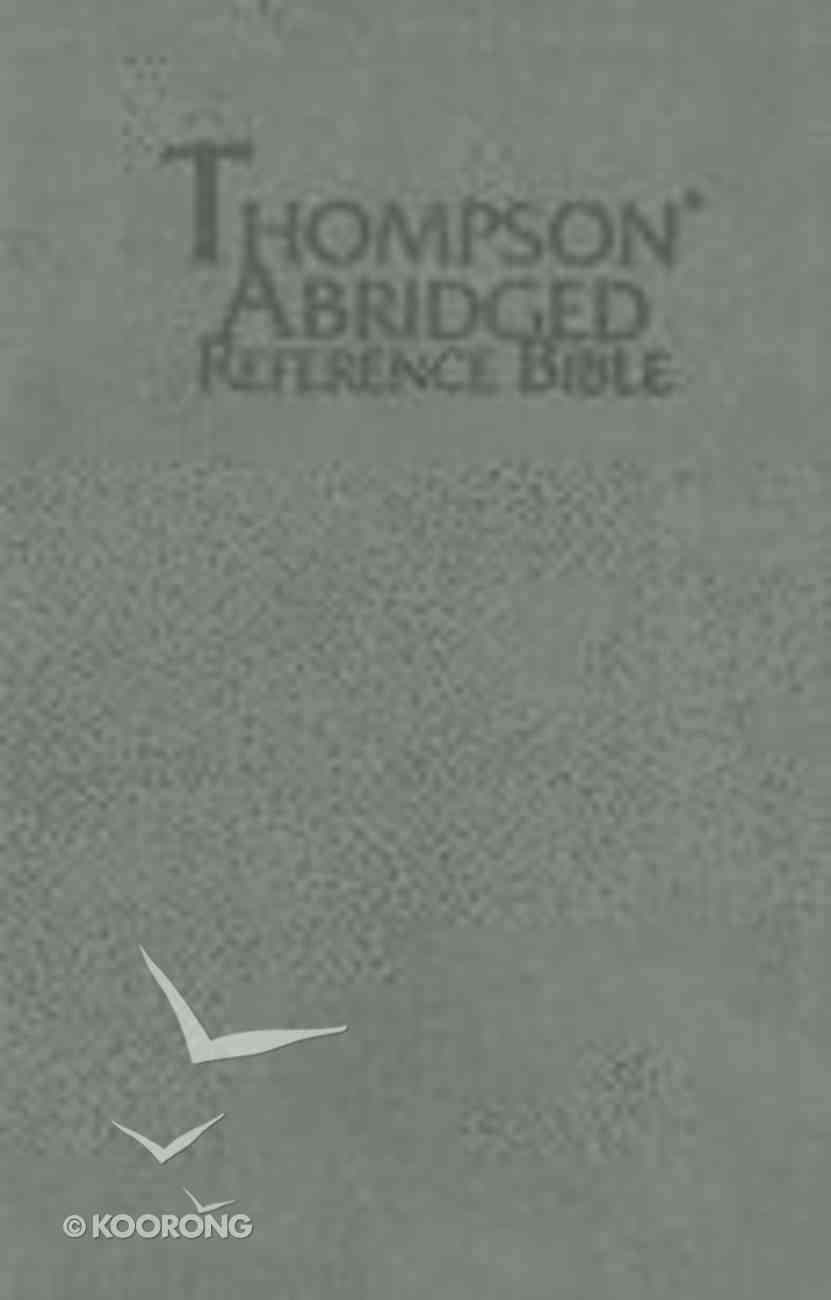 KJV Thompson Abridged Reference Grey Index Imitation Leather