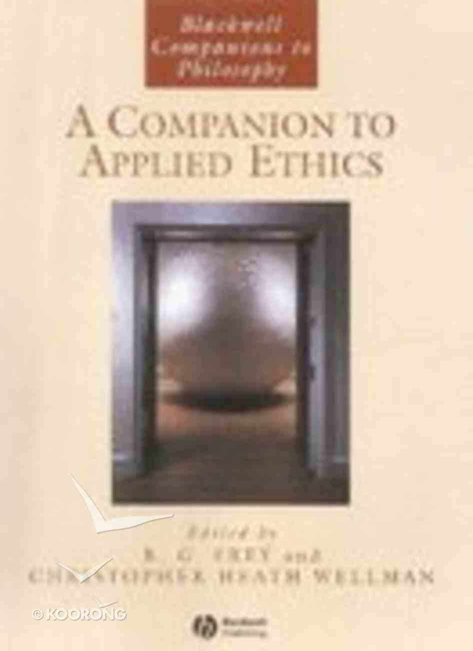 Bcp: A Companion to Applied Ethics Paperback