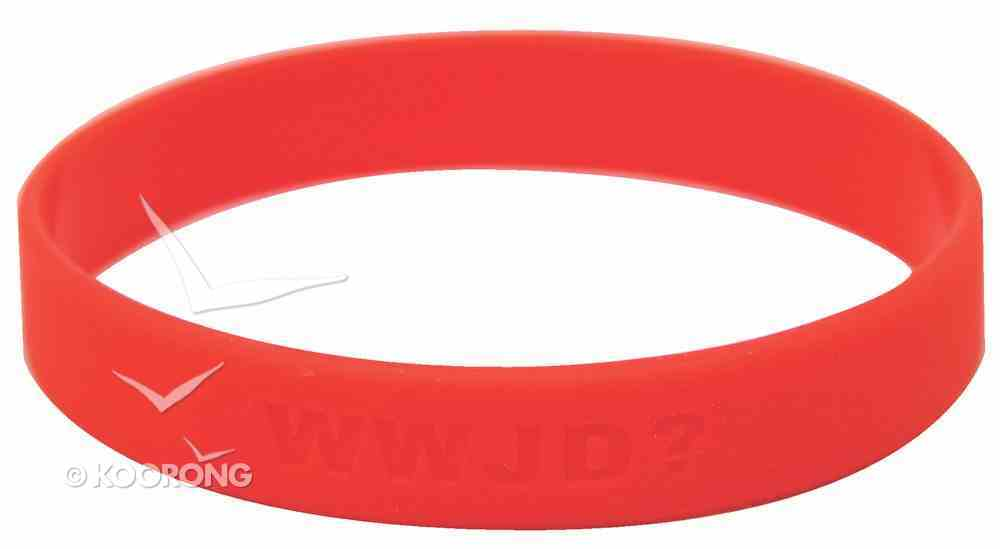 Silicon Wwjd Wristband Red Novelty