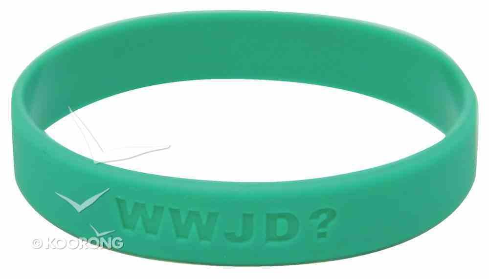 Silicon Wwjd Wristband Green Novelty