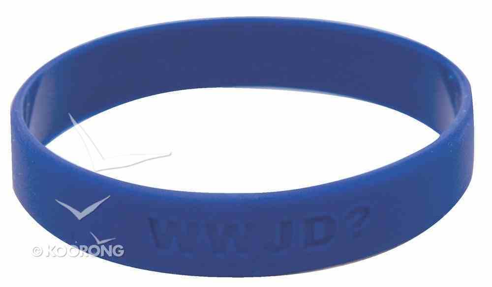 Silicon Wwjd Wristband Blue Novelty
